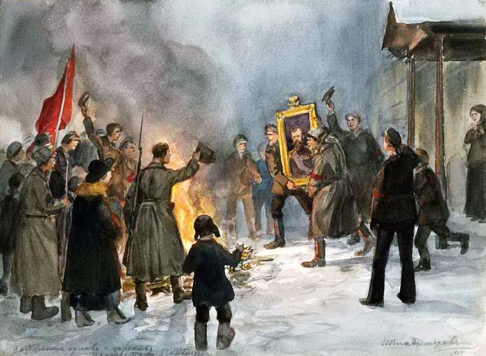 """a history of the russian october revolution Find out more about the history of vladimir the russian revolution was already class enemies"""" during the red terror between september and october 1918."""